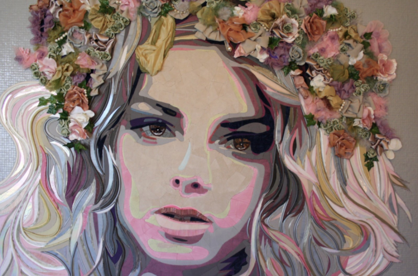 """Flower Power Girl"" (165 CM X 110 CM)"